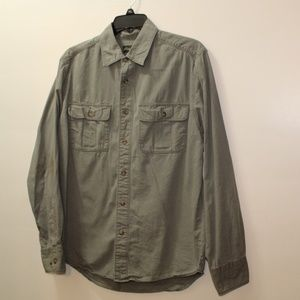 Eddie Bauer Grayish Green Button Down Shirt